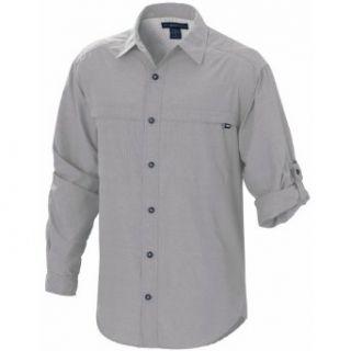 ExOfficio Tripr Long Sleeve Shirt,Pebble,Medium Clothing