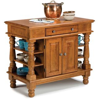 Americana Cottage Oak Kitchen Island