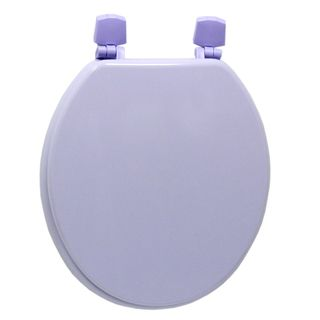 Corn Flour Purple Molded Wood Solid Toilet Seat