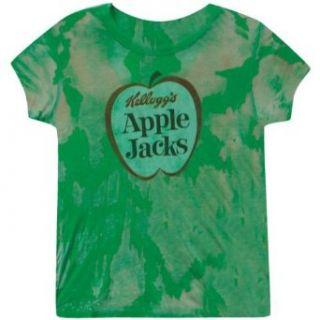 Apple Jacks   Logo Ladies Burnout T Shirt Clothing