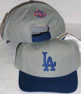 Los Angeles Dodgers Two Tone Grey / Blue Adjustable Velcro