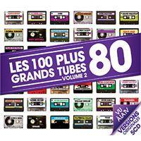 LES 100 PLUS GRANDS TUBES 80 VOL.2   Compilation   Achat CD