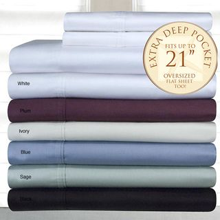 Pima Cotton 400 Thread Count Deep fitted Sheet Set