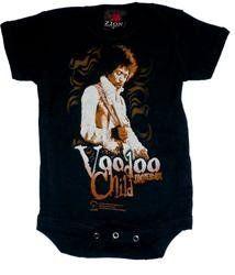 JIMI HENDRIX   Voodoo Child Creeper   Black Onesie / Baby