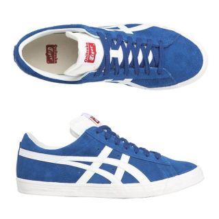ONITSUKA TIGER Baskets cuir Fabre BL S OG Homme Bleu roi et blanc