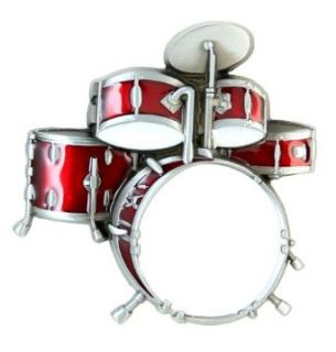 Red Drum Set Belt Buckle Clothing