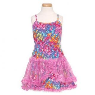 GeGe Girls Size 7 Pink Flowers Mesh Tutu 2pc Outfit Set