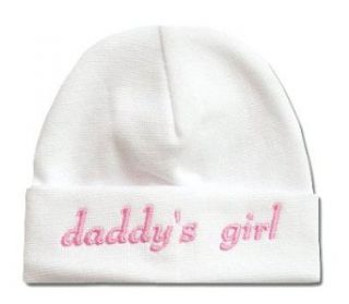 Itty Bitty Baby White Daddys Girl Cap: Clothing
