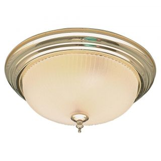 Polished Brass 3 light Flush mount Ceiling Fixture