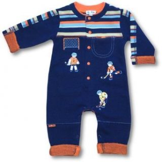 LeTop Baby Boys French Terry Coverall ~ Hockey SIZE 3