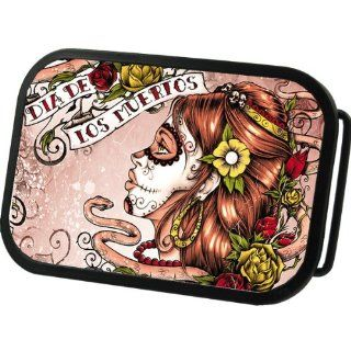 Dia De Los Muertos Tattoo Belt Buckle Sports & Outdoors