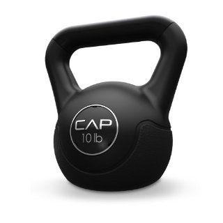 Cap Barbell Fitness Vinyl Kettlebell (Black) Sports