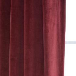 Signature Grommet Wine Velvet 108 Inch Curtain Panel