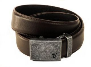 Mission Belt Mens Iron and Brown Leather Ratchet Belt   X