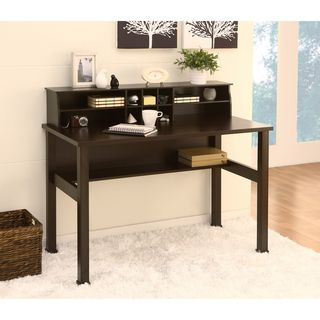 Enitial Lab Kyle Cappuccino Office/Writing Desk with MIni Hutch
