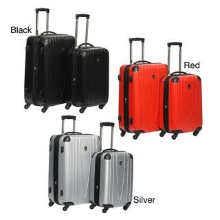 Heys USA 4WD 2 piece Hard side Spinner Luggage Set