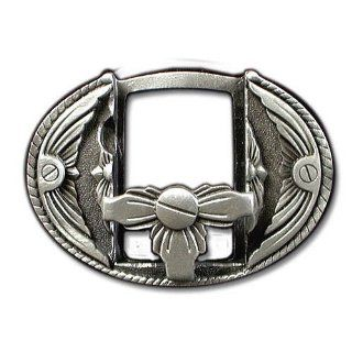 Zippo & Lighter Holder Pewter Belt Buckle Sports