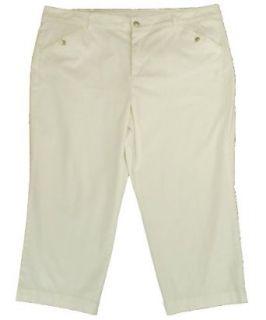Charter Club Plus Size Slim It Up Twill Capri Pants