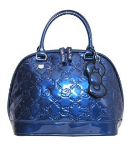 Hello Kitty  Small Navy Blue Embossed Tote Bag Purse