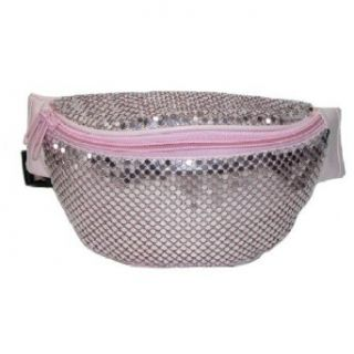 Sequin Fanny Pack   Solid Colors (Pink) Clothing