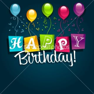 Happy Birthday with Balloons  Vector stock © Michel Marcoux #7782495