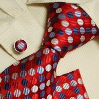 Red dots designer mens ties blue birthday gifts husband