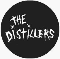 The Distillers   Logo (White On Black)   1 Button / Pin