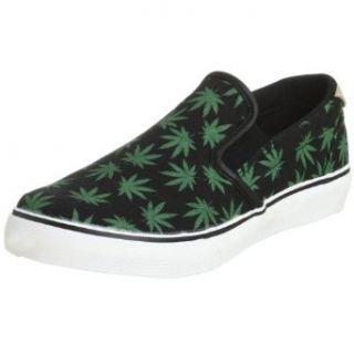 Osiris Mens Scoop Hemp Sneaker,Black/Green/Leaf,6 M
