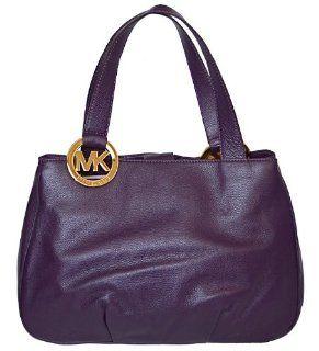 Purple Leather Fulton Large EW Tote Bag Shoulder Handbag Purse Shoes