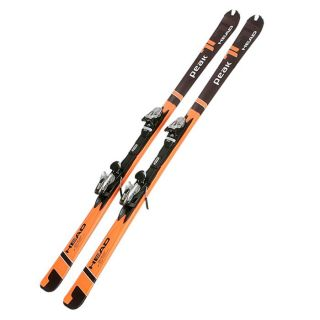 HEAD Pack Ski Peak 71 + Fixation Rf 11 Homme. Coloris  orange et noir