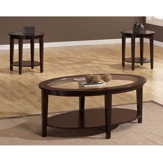 Oval 3 piece Table Set