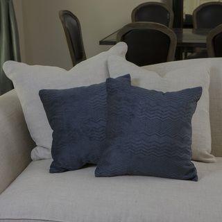 Christopher Knight Home Dark Blue Jacquard Pillows (Set of 2
