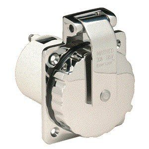 Marinco 303SSEL B 30A Power Inlet   Stainless Steel   125V