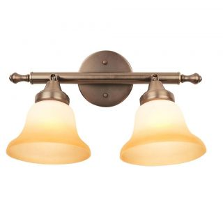 Burnished Antique Bronze 2 light Vanity