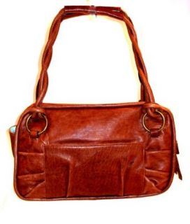 Donna Dixon Nicole E W Leather Satchel Lamb Bag Handbag