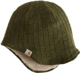 Carhartt Mens Marled Ear Flap Hat, Forest Green, One Size