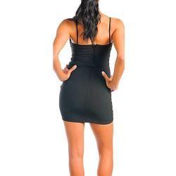 Stanzino Womens Black Sleeveless Tube Party Dress