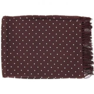 Burgundy Polka Dot Broad Silk Scarf by Michelsons
