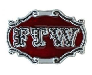 FTW Belt Buckle   Red Clothing