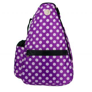 Jet Pac Purple Polka Dots Tennis Sling Bag