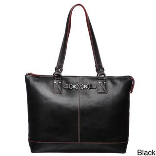 Johnston & Murphy Womens Leather Zip Tote Handbag
