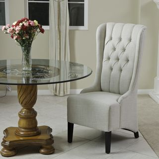 Christopher Knight Home Champion Tufted Light Beige Fabric Dining