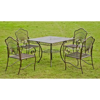 Sun Ray Five piece Iron Lawn Furniture Set