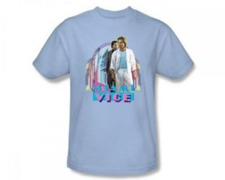 Miami Vice   Miami Heat Slim Fit Adult T Shirt In Light