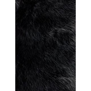 Jungle Sheep Skin Black Rug (3 x 5)