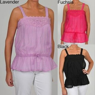 Simply Irresistible Womens Sleeveless Crochet Blouse