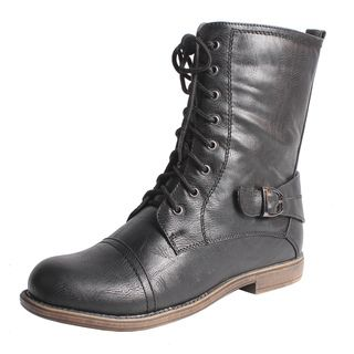 Blossom by Beston Womens Cana 8 Mid calf Combat Boots