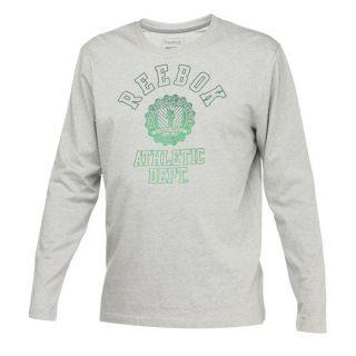 Coloris  gris chiné. Tee shirt REEBOK Homme, 100 % coton, Régular