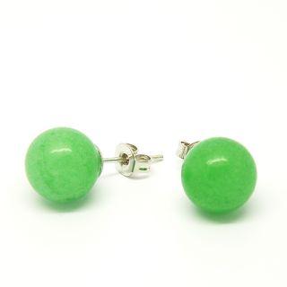 Pretty Little Style Silvertone Green Apple Agate Earrings Today $11