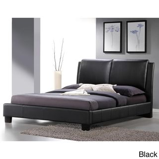 Baxton Studio Sabrina White Modern Full sized Bed with Overstuffed